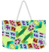Abstract Seamless Pattern  - Yellow Green Purple Blue Gray White Weekender Tote Bag