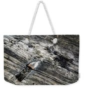 Abstract Shapes On An Old Weathered Wooden Board Weekender Tote Bag