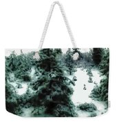 Abstract Snowy Trees Lighter Weekender Tote Bag