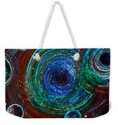 Abstract Space Art. Sparkling Antimatter Weekender Tote Bag