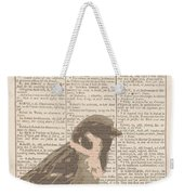 Abstract Sparrow On Dictionary Weekender Tote Bag