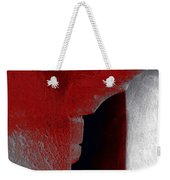 Abstract Square Red Black White Grey Textured Window Alcove 2a Weekender Tote Bag