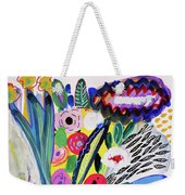 Abstract Still Life With Flowers Weekender Tote Bag