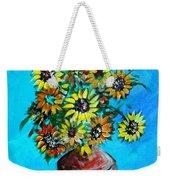 Abstract Sunflowers W/vase Weekender Tote Bag