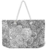 Abstract Swirl Design In Black And White #1 Weekender Tote Bag