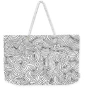 Abstract Swirl Design In Black And White Weekender Tote Bag