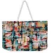 Abstract Teal Crosses Weekender Tote Bag