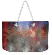 Red And Blue - Abstract Tiles No. 16.0110 Weekender Tote Bag