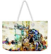 Abstract Train Weekender Tote Bag