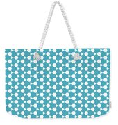 Abstract Turquoise Pattern 1 Weekender Tote Bag