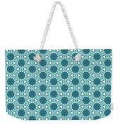 Abstract Turquoise Pattern 3 Weekender Tote Bag