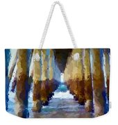 Abstract Under Pier Beach Weekender Tote Bag