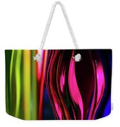 Abstract Verticle Shapes In Green And Red Weekender Tote Bag