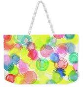 Abstract Watercolor Circles Weekender Tote Bag