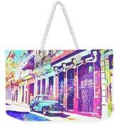 Abstract Watercolor - Havana Cuba Classic Car I Weekender Tote Bag
