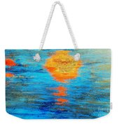Abstract Watery Sunset Weekender Tote Bag