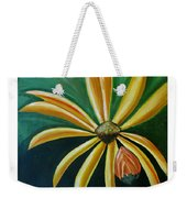Abstract Yellow Sunflower Art Floral Painting Weekender Tote Bag
