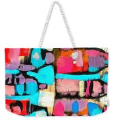 Abstract Wine Bottles Blue Red Weekender Tote Bag