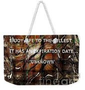 Abstract With Quote Weekender Tote Bag