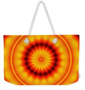 Abstract Xanthous And Black.  Weekender Tote Bag