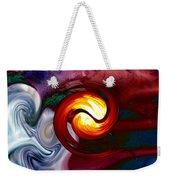 Abstract Yin Yang Lava Weekender Tote Bag