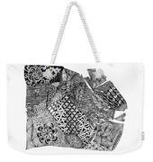 Abstract Zentangle Inspired Design In Black And White Weekender Tote Bag
