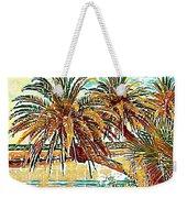 Abstracted Loop Palms Weekender Tote Bag