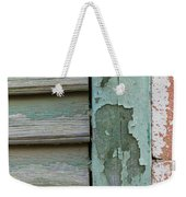Abstraction In Peeling Paint Close-up Weekender Tote Bag
