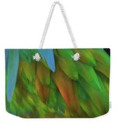 Abstractions From Nature - Pigeon Feathers Weekender Tote Bag