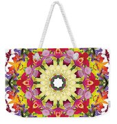 Abundantly Colorful Orchid Mandala Weekender Tote Bag