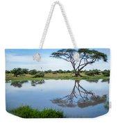 Acacia Tree Reflection Weekender Tote Bag