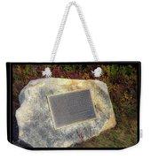 Acadia National Park Centennial Plaque Weekender Tote Bag