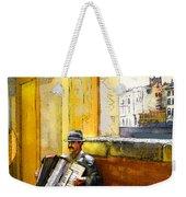 Accordeonist In Florence In Italy Weekender Tote Bag