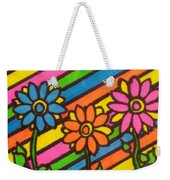 Aceo Abstract Flowers Weekender Tote Bag