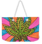 Aceo Cannabis Abstract Leaf  Weekender Tote Bag