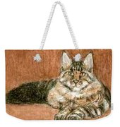 Aceo Maine Coon Cat Weekender Tote Bag