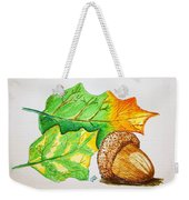 Acorn And Leaves Weekender Tote Bag