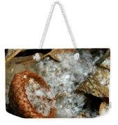 Acorn Cap Filled With Snow Weekender Tote Bag