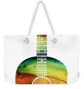 Acoustic Guitar - Colorful Abstract Musical Instrument Weekender Tote Bag by Sharon Cummings