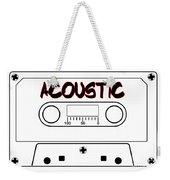 Acoustic Music Tape Cassette Weekender Tote Bag
