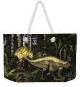 Acrocanthosaurus Hunting Tenontosaurus Weekender Tote Bag