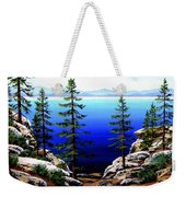 Across Lake Tahoe Weekender Tote Bag