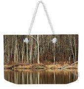 Across Skymount Pond - Autumn Browns Weekender Tote Bag
