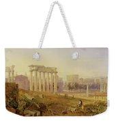 Across The Forum - Rome Weekender Tote Bag by Hugh William Williams