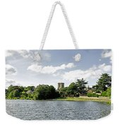 Across The Pool At Melbourne Hall Weekender Tote Bag