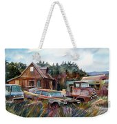 Across The Road And Gone Weekender Tote Bag
