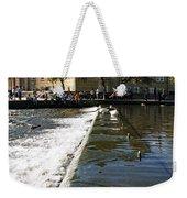 Across The Weir At Bakewell Weekender Tote Bag
