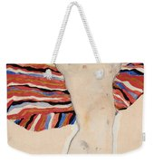 Act Against Colored Material Weekender Tote Bag