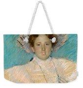 Adaline Havemeyer In A White Hat Weekender Tote Bag