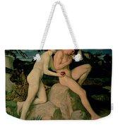 Adam And Eve  Weekender Tote Bag by William Strang